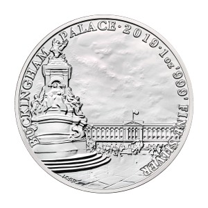 Monumentos de Gran Bretaña | Moneda de plata Palacio de Buckingham 2019 de 1 oz