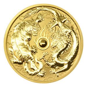 1 oz 2019 Dragon and Tiger Gold Coin