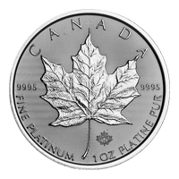 1 oz 2019 Canadian Maple Leaf Platinamynt