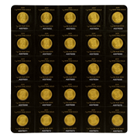25 gram (25 x 1 g) 2019 MapleGram25 Sheet of Gold Coins