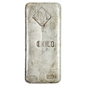 1 kg | kilo Johnson Matthey Vintage Silver Bar