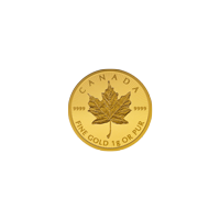 Pièce d'or unique MapleGram25 2019 de 1 g