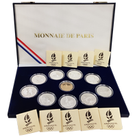 1992 Albertville Olympic 10 Piece Coin Set