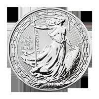 Moneda de plata Britannia Borde Oriental 2019 de 1 oz