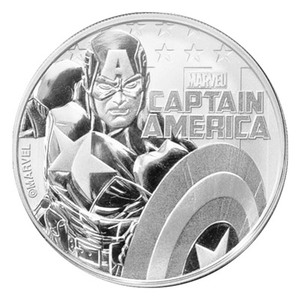 1 oz 2019 Captain America Silver Coin