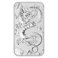 1 oz 2019 Perth Mint Dragon Silver Rectangular Coin