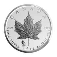 1 oz 2019 Canadian Maple Leaf Phonograph Privy Reverse Proof Silver Coin