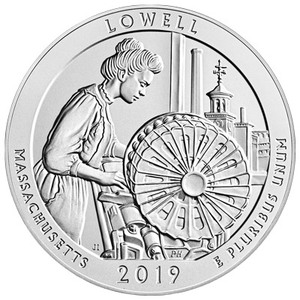 5 oz 2019 America the Beautiful | Lowell National Historic Park Sølvmynt
