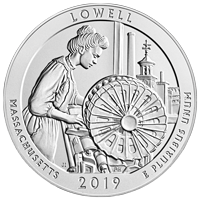 5 oz 2019 America the Beautiful | Lowell National Historic Park Silver Coin
