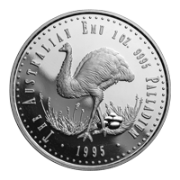 1 oz 1995 The Australian Emu First Proof Issue Palladium Coin