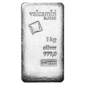 1 kg | kilo Valcambi Antique Finish Silver Bar