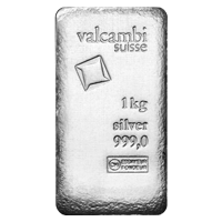 1 kg | kilo Valcambi Antique Finish Silver Bar