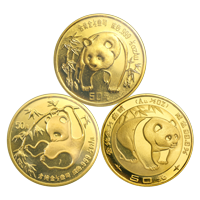 1/2 oz Random Year Chinese Panda Gold Coin