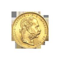 Random Year Austrian Restrike 8 Florin 20 Franc Gold Coin
