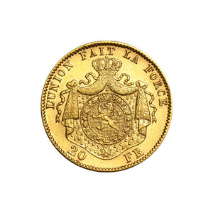 Random Year Belgian 20 Franc Gold Coin