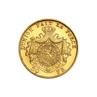Moneda de oro 20 Francos Belgas de Año Aleatorio