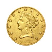 Moneda de oro Águila Libertad VF $10 de año aleatorio