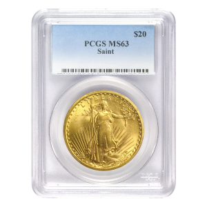 Random Year $20 Saint-Gaudens Double Eagle MS-63 Gold Coin
