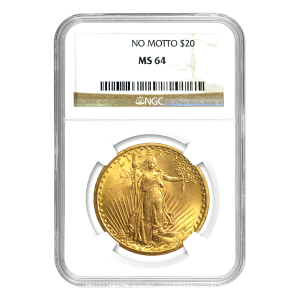 Random Year $20 Saint-Gaudens Double Eagle MS-64 Gold Coin