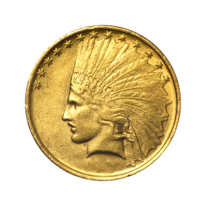 Random Year $10 Indian Eagle AU Gold Coin