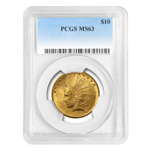Random Year $10 Indian Eagle MS-63 Gold Coin