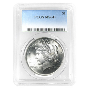 Random Year Peace Silver Dollar PCGS MS-64 Silver Coin
