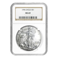 1 oz 1996 NGC MS 69 American Eagle Silver Coin