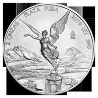 2 oz 2019 Mexican Libertad Silver Coin