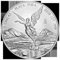 5 oz Silbermünze - mexikanische Libertad - 2019