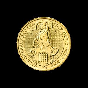 Les bêtes de la reine de la Royal Mint 2019 de 1/4 once | Pièce d'or L'éale de Beaufort