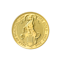 1/4 oz 2019 Royal Mint Queen's Beasts | Yale of Beaufort Gold Coin