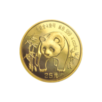 1/4 oz 1986 Chinese Panda Gold Coin
