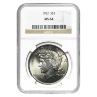 Random Year Peace Dollar NGC MS-64 Silver Coin