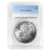 1878 - 1904 Morgan Dollar Silbermünze PCGS MS-63