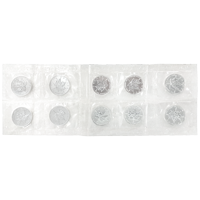 Sheet of 10 x 1 oz 1997 Canadian Maple Leaf Original Flex Sealed Silver Coins