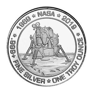 Ronda de plata Apollo 11 Silvertowne 2019 de 1 oz