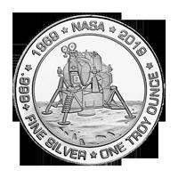 1 oz Silbermedaille - Apollo 11 - Silvertowne 2019