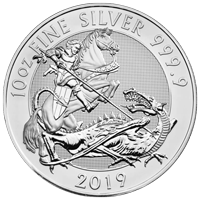 10 oz 2019 Royal Mint Valiant Silver Coin