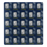 25 x 1 Multigram Pamp Suisse Platinum Bar