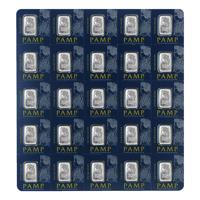 25 x 1 Multigramm Platinbarren Pamp Suisse