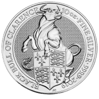 10 oz 2019 Royal Mint Queen's Beasts | Black Bull of Clarence Silver Coin