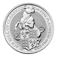 1 oz 2019 Royal Mint Queen's Beasts | Black Bull of Clarence Platinum Coin