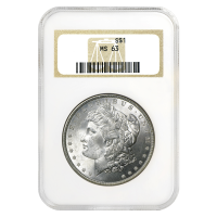 1878 - 1904 Morgan Dollar Silbermünze NGC MS-63