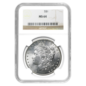 1878 - 1904 Morgan Dollar Silbermünze NGC MS-64
