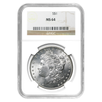 1878-1904 Morgan Silver Dollar NGC MS-64 Silver Coin