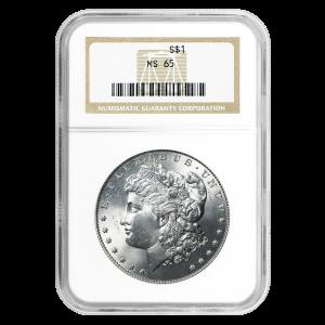 Pièce d'argent Morgan Silver Dollar NGC MS-65 1878-1904