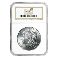 1878 - 1904 Morgan Dollar Silbermünze NGC MS-65