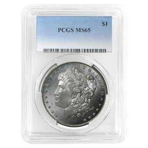 1878-1904 Morgan Silver Dollar PCGS MS-65 Silver Coin