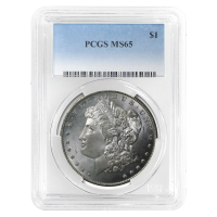 1878 - 1904 Morgan Dollar Silbermünze PCGS MS-65