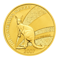"1 oz Goldmünze - australisches Känguru ""Goldklumpen"" - 2007"